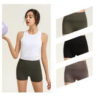 lu-32 lu womens leggings black yoga suit pants women High Waist Sports Raising Hips Gym Wear lulu Align Elastic Fitness Tights Workout shorts