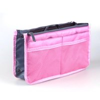 Storage Boxes & Bins Organizer Insert Bag Women Nylon Travel Handbag Purse Large Liner Lady Makeup Cosmetic Female Tote