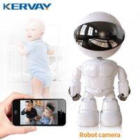 روبوت كاميرا IP أمن 360 ° WiFi لاسلكي 2MP CCTV المنزل الذكي مراقبة الفيديو P2P خفية الطفل مراقب كاميرات