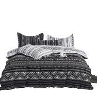 تغطية لحاف الاولى الشمال الملك الحجم الفاخرة مجموعة مفروشات سوداء كاملة بوهيميا لحاف سرير مزدوج ملكة واحدة مجموعات بياضات