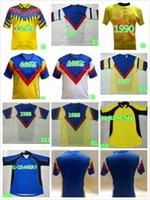 Retro 2001 2002 América México Club League CA Futebol Jerseys Vintage Camiseta de Futbol Home Amarelo Branco 01 02 Liga MX Futebol Camisas