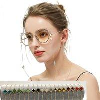 Oogglazen ketting kleur kristal vier blad vorm leesbril touw zonnebril lanyard eyewear retainer voor vrouwen ketting gelaagd armband cadeau