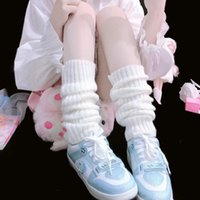 KNEE Japanese JK uniform Lolita style Slouch Socks Loose Boots Solid Color Knit Winter Leg Warmers Socks Foot warming cover