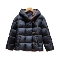 Luxury Fashion Women Down Jacket L Top Quality Stylist Coat Parka Canvas buttons Pure Color Hoodle Thicken Winter Goose Jackets Woman