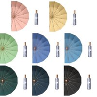 Umbrellas Y1UD 16 Ribs Pocket Mini Umbrella Titanium Silver Anti UV Sun Rain 3 Folding For Women Men Super Sunscreen UPF50+