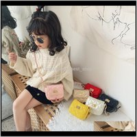 Çanta Ins Kore Anne ve Me Çocuklar Toddler PU Çanta Bahar Sonbahar Modası Kızlar Katı Çanta Çocuk OnesHoulder Çanta 1GKLD DLTGW