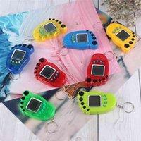 열쇠 고리 발 모양 전자 애완 동물 Tamagotchi 장난감 빈티지 디지털 포켓 미니 레트로 게임 기계 키 체인 향수 가상 장난감 G400493
