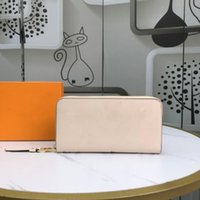Top Quality Leather Long Wallets Luxury Designer Letter Zipper Multi-Card Position Female Clutch Bags Business Casual Mens Wallet Card Holder Pocket Women Purses