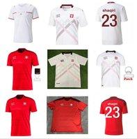 2021 2022 Швейцария Домашний Дом домой Футбол Джерси 21 22 Сейферович Фрайлер Shaqiri Lang Embolo Behrami Швейцарская красная мужская футболка