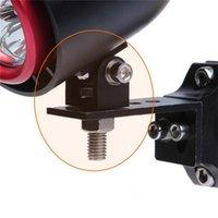 Espejos de motocicleta 1 PC G90 Agujero universal 8mm LED Soporte de montaje de montaje Soporte de proyector Lámpara Pinza para automóvil /
