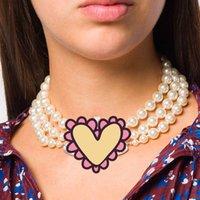 Collana a catena di perle multistrato Collana orbita orbita Collana Collana Catena Clavice Collana Baroque Collane girocollo per donna Ragazze Gift Party