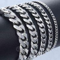 Bracelet for Men Women Curb Cuban Link Chain Stainless Steel s Womens Bracelets Chains Davieslee Jewelry Dlkbm05