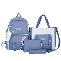Backpack Four-piece Suit High-quality School Bag + Handbag Shoulder Cosmetic Large-capacity Designer Y2K Vintage