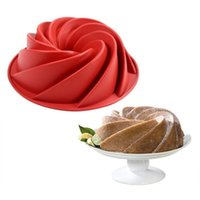 Cake Tools Grade 9 Inches Silicone Mold Big Swirl Shape Butter Mould Baking Form For Bakery Dish