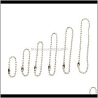 Necklaces & Pendants Jewelry2 2Dot4 3 4 5 6 8 10Mm Stainless Steel Round Chain Necklace Choker Metal Ball Bead Chains 8Mm Wholesale 10Pcs Dro