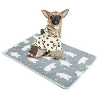 Kennels & Pens Star Print Warm Cat Dog Bed Soft Flannel Fleece Puppy Blanket Sleeping Mat Cover House For Dogs Pet Supplies