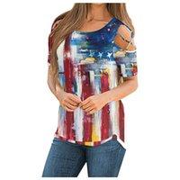SAGACE T 셔츠 여성 여름 짧은 소매 스트랩 콜드 숄더 티셔츠 탑스 워터 웨이브 2021 의류 여성 의류