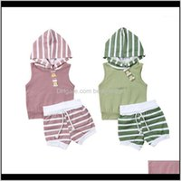 Sets Clothing Baby, Kids & Maternitysummer Born Infant Baby Girls Boys Hooded Stripe Tops Vest Shorts Pants Outfits Set Clothes 0-18M1 Drop