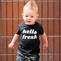 GRH INS Pure Cotton T-shirts Boy Girl Printing Letter Short Sleeve T Shirt Summer Toddler Kid Cute Top Tees Children Clothing
