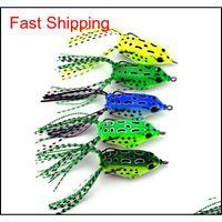 Baits 5Pcs Tube Plastic Fishing Lures Treble Hooks Mini Frog Lure 55Cm 8G Artificial Soft Bait 2508041 Eazdq Qsart