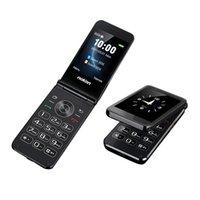 Luxury Double Screen Display Flip Mobile Phone 2G Dual Sim Card GSM Unlocked Easy Work Senior Speed Dial Big Key Large Volume SOS Button Flashlight Cell Cellphones