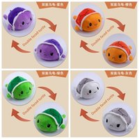 New double-sided flip Little Turtle plush toy Octopus children's doll cute turtle