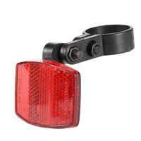 Bike Lights Outdoor Red White Reflector Bicycle Handlebar Mount Safe Front Rear Warning Light Card Reflective Lens