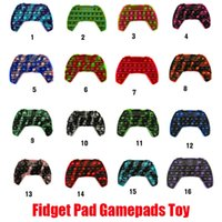 Hot Fidget Pad Gamepads Toy Party Push Bubble Pop Controller It Fidgets Cube Hand Shank Game Controllers Joystick Finger Decompression Anxiety Toys