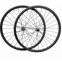 عجلات الدراجة 29er الكربون mtb القرص لايحتاج 34x30 ملليمتر التماثل 6 الترباس وقفل المركزي D411SB / D412SB 100x15 142x12 دراجة