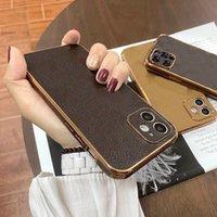 럭셔리 디자인 전화 케이스 아이폰 13 케이스 11 Pro 12Pro 11Pro XR X XS Max 8 7 Plus Metallic Lock PU 가죽 커버 어깨 끈