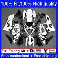 Bodys Molde de inyección para Suzuki GSXR1000 K5 GSX-R1000 05 06 Carrocería de la motocicleta 26NO.56 GSXR 1000CC 1000 CC 2005 2006 GSXR-1000 Llamas negras 2005-2006 Carreying OEM