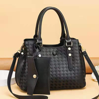 Evening Bags Women Handbags Boston Women's Son-mother Bag Messenger Shoulder Medium Top-Handle PU Leather Lattice Pattern