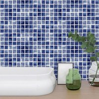 Badematten Fliesenübertragung Aufkleber 18 stücke Mosaik Badezimmer Küche DIY Home (10 cm * 10 cm)