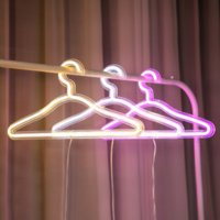 الإبداعية الصمام الملابس شماعات النيون ضوء الشماعات ins مصباح اقتراح رومانسية فستان الزفاف الديكور الرف 3 ألوان