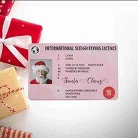 عيد الميلاد هدية بطاقات المعايدة سانتا 86 * 54mm سانتا كلوز مضحك بطاقة رخصة القيادة