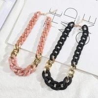 Chains Candy Color Acrylic Link Chain Resin Lobster Clasp Choker Collar Necklaces Classic Design Jewelry For Women Birthday Gift