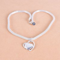 925 Sterling Silver 18 polegadas Double Heart Pingente AAA Zircão Colar para mulheres moda casamento encanto jóias 1207 T2