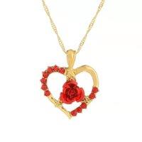 Original light luxury metal mosaic pendant necklace