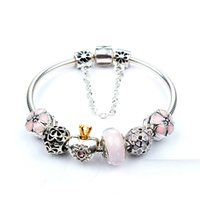 Moda Coroa Crystal Bead Bracelet para Pandora Estilo Pingente Charm Bead Jóias com
