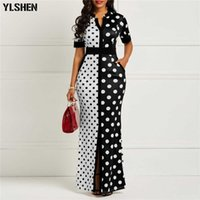Robe Africaine Femmes Vêtements Dashiki Polka Dot plus Taille Noir Blanc Summer Imprimé Retro Adhérent en Afrique