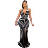 カジュアルなドレス夏の女性のファッションレディースドレスレディースのCaslドレスドレスレディースオフィススタイル半袖フリルショルダーカラーストライプS