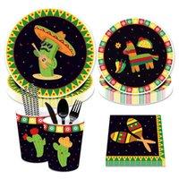 المتاح المائدة المائدة المكسيكي حزب ديكور سينكو دي مايو مائدة مجموعة صبار راية البكالوريوت الصيف زفاف عيد الميلاد
