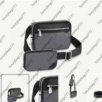 Postacı Lüks Çanta Tasarımcı Tasarım Moda 0018 Hanbags Çift Crossbody Siyah Taşıma Kolay Kumsala Kumsala Çıkarılabilir Boyutu 23 15 4