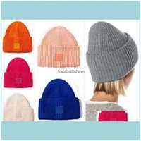 Beanie Skl Hats, Scarves & Gloves Aessories Beanie Fashion Knitted Hats Striped Knit Lovers Cap Street Man Woman Skl Caps Colorf Bucket Hat