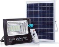 Solar LED Light Spotlight 20W 40W 60W 100W 120W 200W Super Bright Solar Powered Panel Floodlight IP67 garden Lamp with Remote