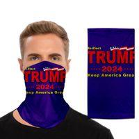Fashion Trump Printed Scarf Face Mask Half Sun Dust Protection 3D Tube scarf Seamless Durable Face Mask Bandana For Adult
