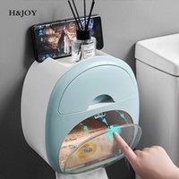 Titulares de papel higiênico Punch-Free Roll Dispenser portátil portátil com gaveta Home Gabage Bag Caixa de armazenamento Acessórios de casa de banho