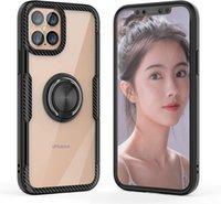 بريميوم Luxuxy شفافة الاكريليك ألياف الكربون حالات الهاتف حالات الهاتف لآيفون 13 12 11 برو ماكس XR XS 8 7 زائد سامسونج S21 S20 Note20 Ultra Redmi Note10