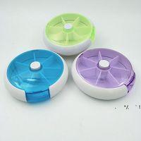 NewStorage-Boxen Runde sieben Gitter pro Woche Rotieren Kombinierte Pillenkasten Medizin Klassifizierung Tragbare 7 Gitter Kunststoff EWB6784
