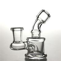 2,5-Zoll-Mini-Glas-Bong-Wasserleitungen mit 10mm weiblicher hukahn dicker pyrex wagen-reise rauchen bongs ölstöcke